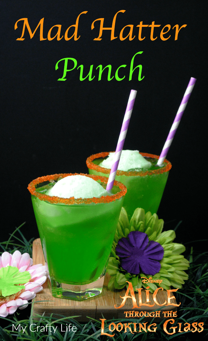 Mad Hatter Punch Recipe - nonalcoholic, refreshing, fruity drink perfect for parties.