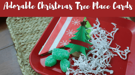 Adorable Christmas Tree Place Cards #CricutMade