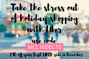 Take the stress out of holiday shopping - Sit back and let someone else do the driving.