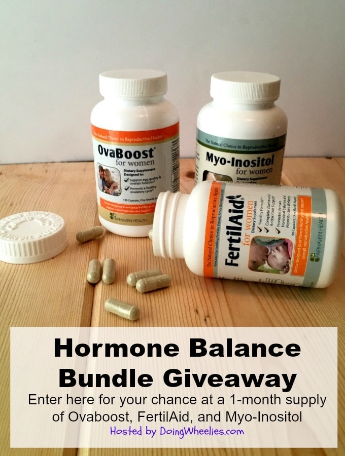 Hormone Balance Bundle Giveaway  - Enter for a chance at a 1 month supply of Ovaboost, FertilAid and Myo-Inositol