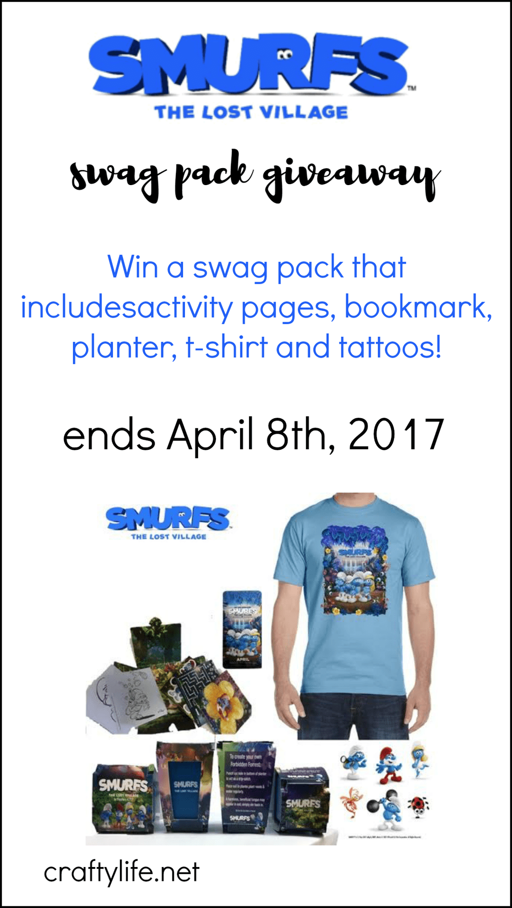 SMURFS: The Lost Village Swag Giveaway! - Enter to win a smurftastic swag pack! It's so cute!!!