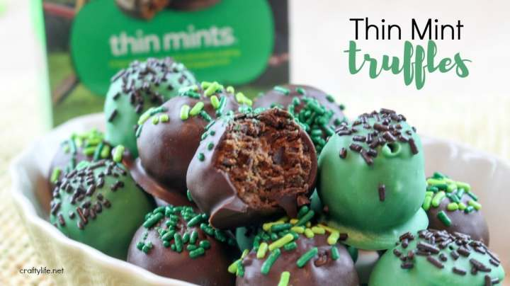 Thin Mint Truffles Recipe - This truffle recipe is indulgent, rich and oh so yummy.
