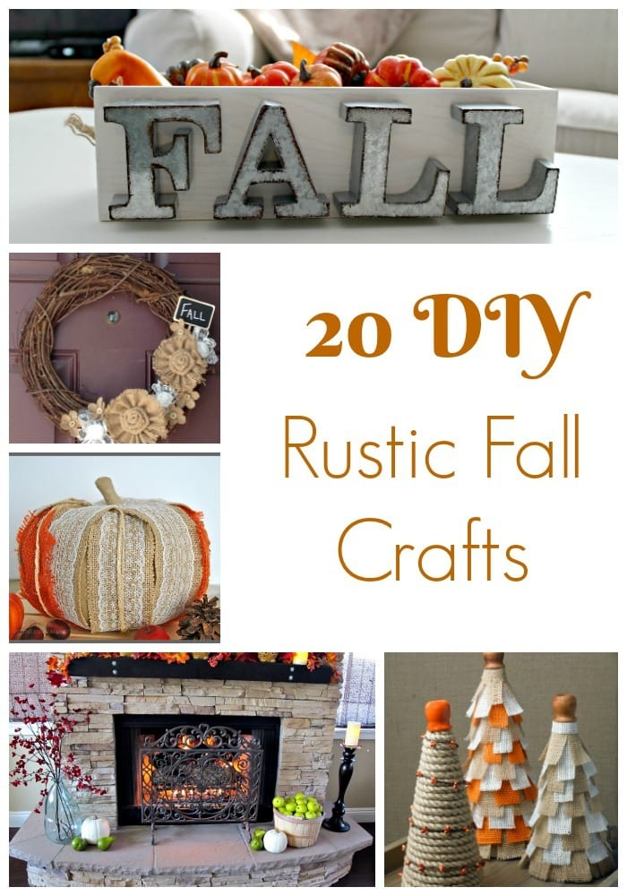 With the fall season underway, you may need inspiration for some new rustic fall crafts to decorate your home for the fall holiday season.