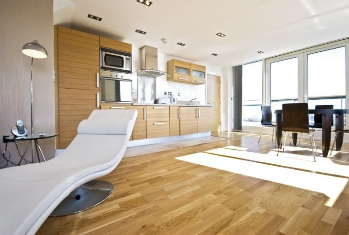 Light Timber Flooring in a modern kitchen