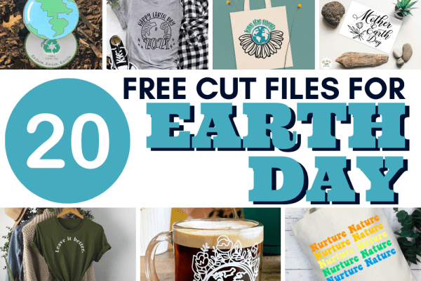 Download this free Earth Day SVG cut file and create a cute shirt or decal to celebrate our world and mother Earth. You will also find 20 Earth Day Designs in this post to keep the creative fun going.