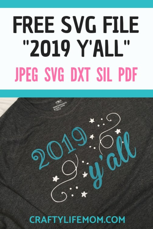 Grab this FREE 2019 Y'all SVG cut file for free and use it with your Cricut or Silhouette Cameo craft cutting machine. Make cute shirts and decals.