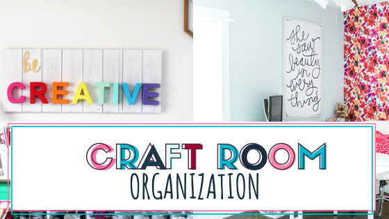 Organize you craft supplies and craft room with these simple tips and tricks. Get motivated and create all the things with these best craft room organization ideas. #craftroomorganizaton #craftroom