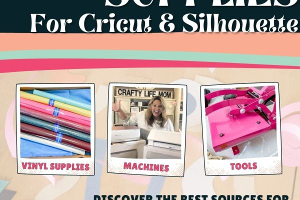 Finding supplies for your Cricut or Silhouette can be tricky. However, you are in luck, because I am providing my best resources and cheapest places to find the supplies for your Circut or Silhouette craft cutting machine. #cricutsupplies #silhouettesupplies #cricutandsilhouette