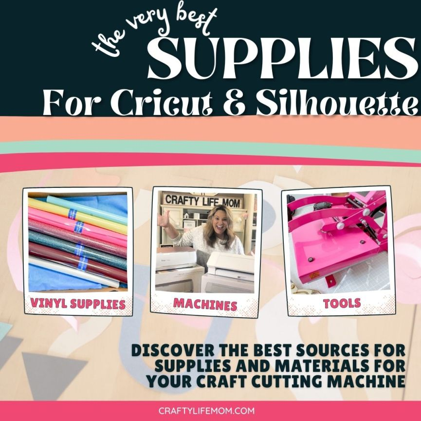 Finding supplies for your Cricut or Silhouette can be tricky. However, you are in luck, because I am providing my best resources and cheapest places to find the supplies for your Circut or Silhouette craft cutting machine.#cricutsupplies #silhouettesupplies #cricutandsilhouette