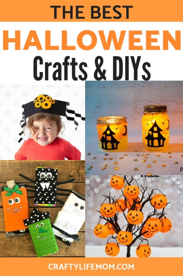 The Best Halloween DIY Crafts and Home Decor projects for Halloween this year. #halloweencrafts #halloweendecor #halloween #spookycrafts #kidscraftsforhalloween