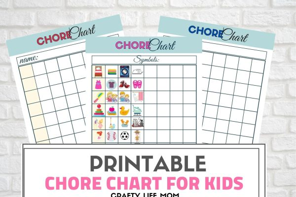 Customize a chore chart for your child using this free printable chore chart. Using a picture checklist to help your kids manage the daily tasks and chores helps to raise them into a competent adult. #chore #chart #printable #free