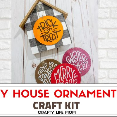 Ornament House Craft Kit