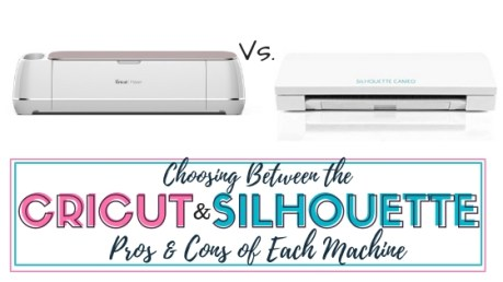 Choosing between the Cricut and Silhouette brands when it comes to craft machines can be tough. I give my honest review of both machines and the pros and cons of both Cricut Maker and SIlhouette Cameo 3 machine. This comparison helps you choose the right machine for your crafting needs.