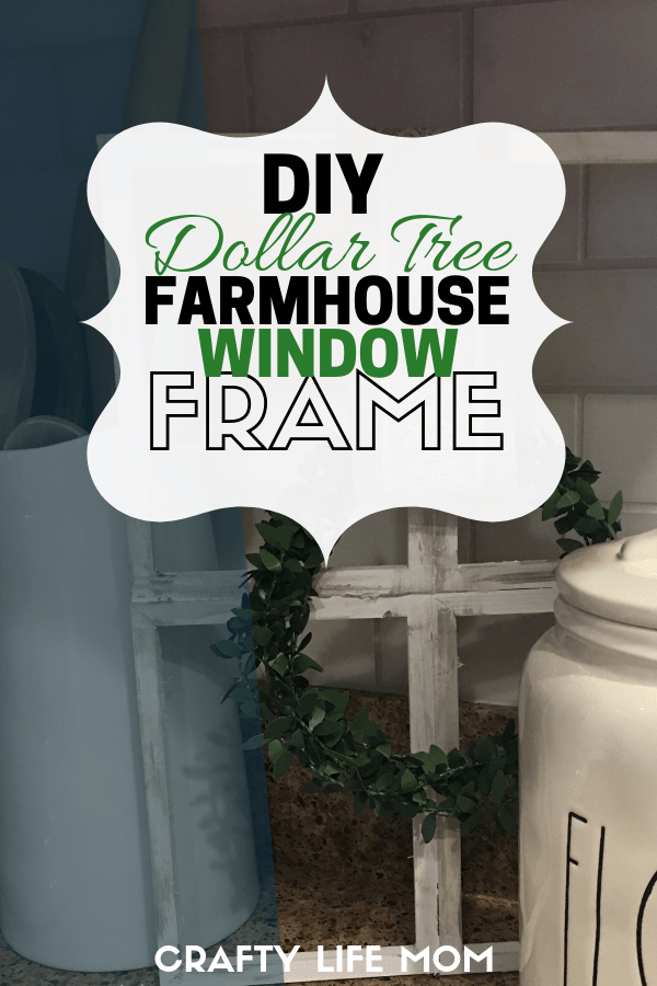 Create this Dollar Tree DIY Farmhouse Window Frame with items from the Dollar Tree to add rustic farmhouse style to your home. Most items can be purchased from the Dollar Tree to create this simple rustic frame. Create a look you love for a fraction of the price.