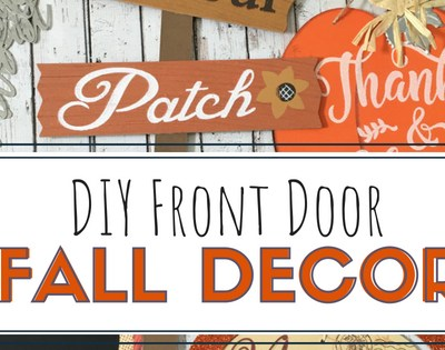 DIY Front Door Fall Decor
