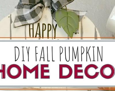 DIY Fall Pumpkin Decor Sign