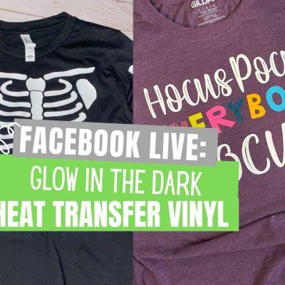 Glow Heat Transfer Vinyl Shirts