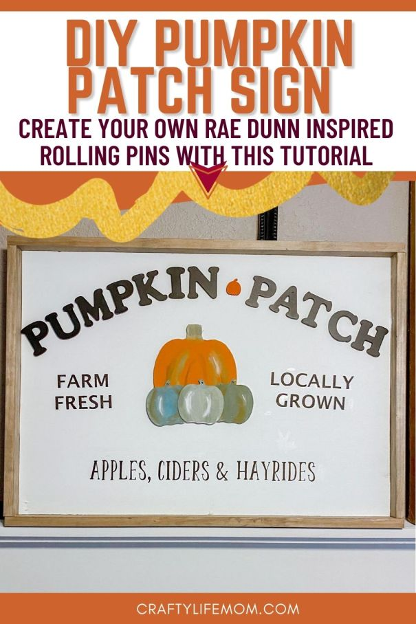 Create your own wood lettered pumpkin patch sign with wood letters and pumpkins. This tutorial shares how I made a Pumpkin Patch Sign using wooden letters, dollar store pumpkin cutouts and stencils.