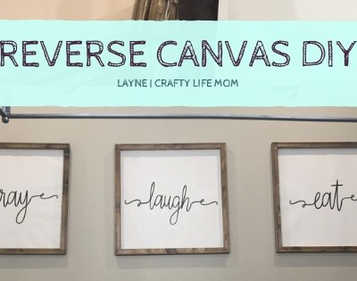 Reverse Canvas DIY