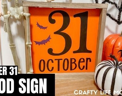October 31 Wood Sign