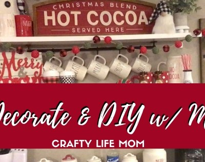 Christmas Coffee Bar Decor & DIYs