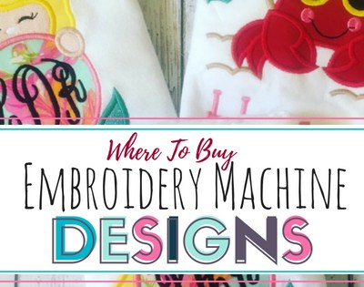 Where to Buy Embroidery Machine Designs