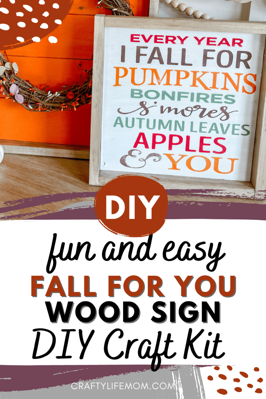 Create this fun Every Fall Sign using this easy to follow wood sign craft kit. This kit comes with everything you need excluding paint to create unique Fall Decor in your home.