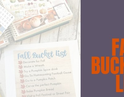 Fall Must Do Bucket List