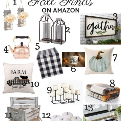 Fall Farmhouse Finds on Amazon