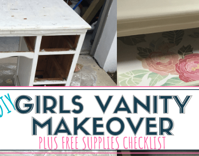 Girls Vanity Desk DIY Makeover