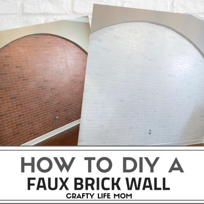 How to Make a Faux Brick Wall