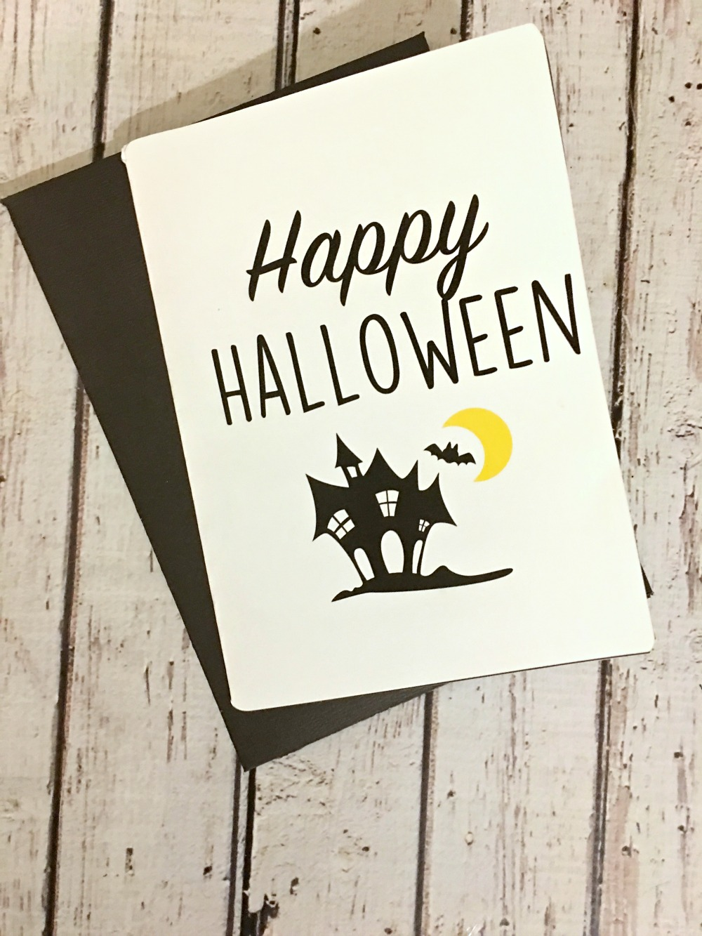 graphic regarding Happy Halloween Cards Printable known as Halloween Craft Do-it-yourself greeting card cost-free printable and svg document
