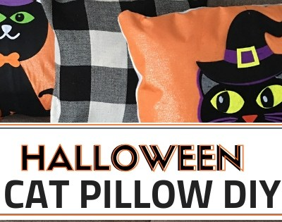 Halloween Cat Pillow DIY