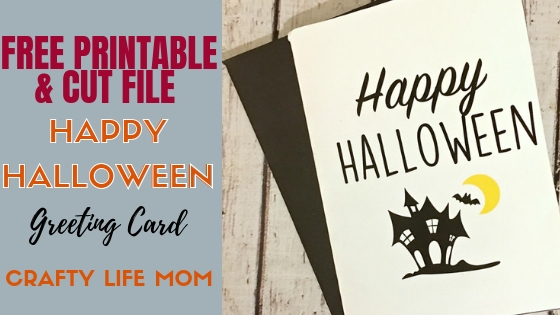 image relating to Happy Halloween Cards Printable called Halloween Craft Do-it-yourself greeting card absolutely free printable and svg report