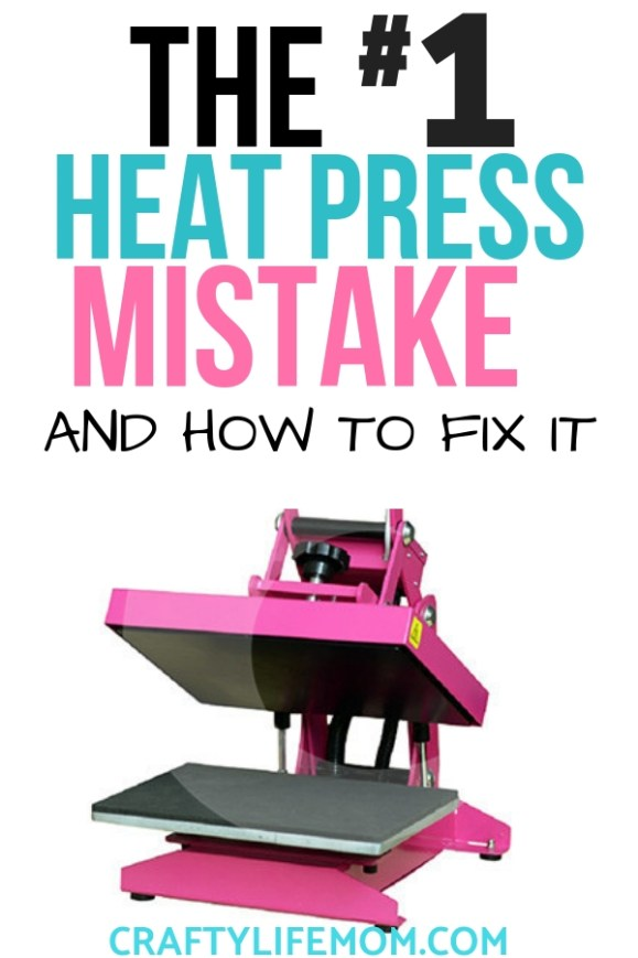 Learn how to not make the the #1 heat press mistake that most crafters do the first time they use a heat press. Plus, if you do make this mistake, this tutorial will show you how to fix it. #silhouette #cricut #heatpress #heatpressmistakes #Fixheatpressmistake