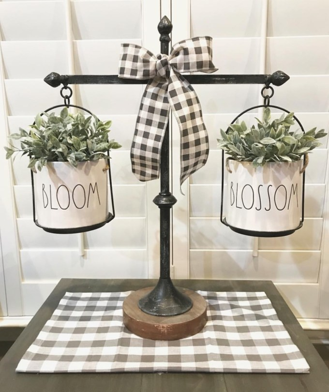 Buffalo Check ribbon is a great way to add the pattern in your home without much cost. SImply just put on home decor items you already own.