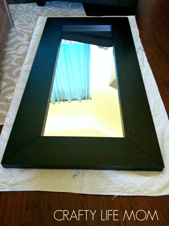 Ikea MIrror Makeover tutorial. Update your home decor with this simple trick and Ikea DIY hack.