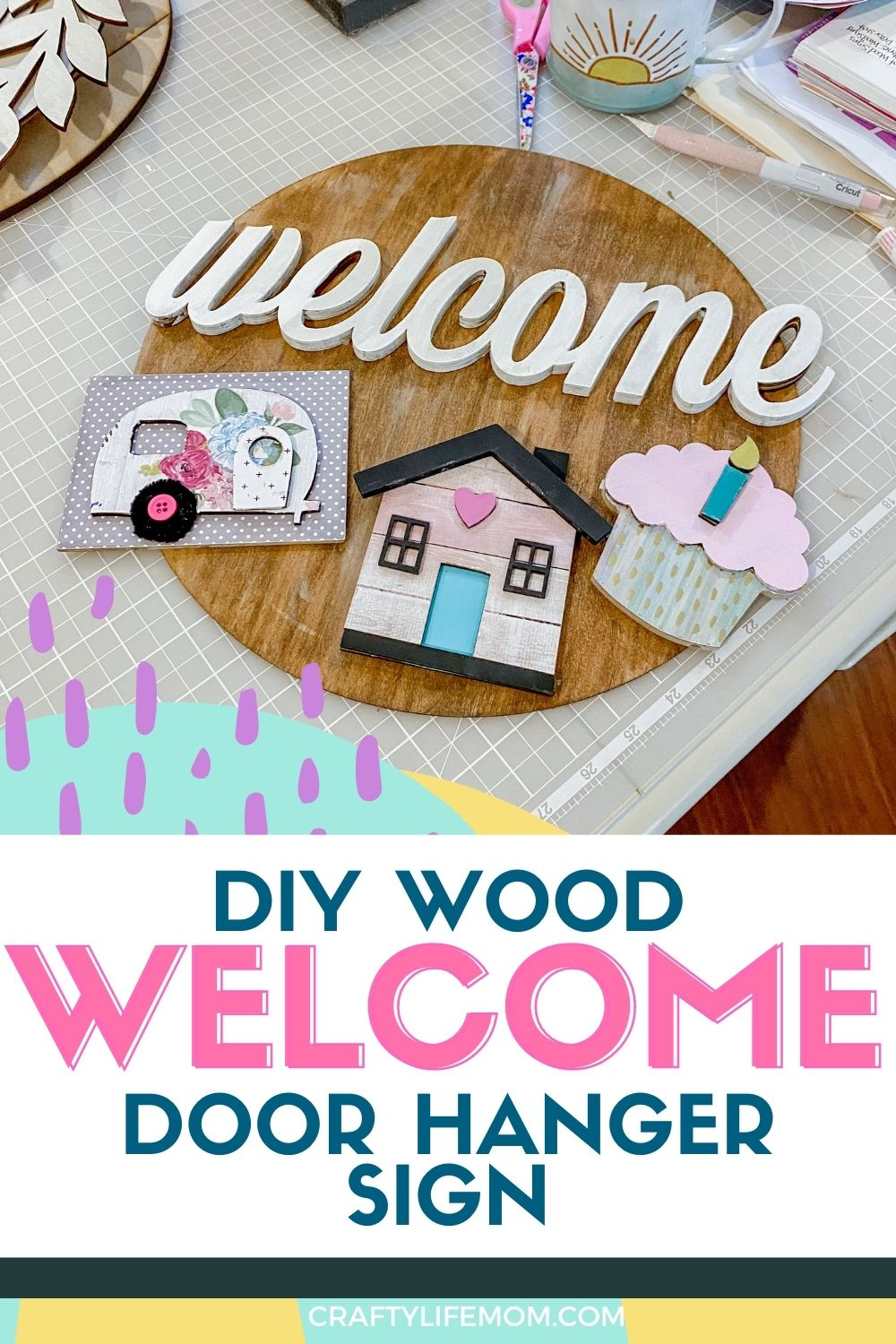Learn how to create your own DIY Wood Welcome Sign using laser-cut wood pieces that can be interchangeable from local craft stores. No laser cutting machine is required for this project, plus I show you how to create something perfect for your style and your home.