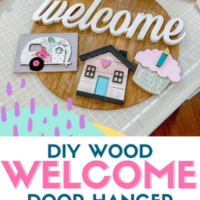 DIY Wood Welcome Sign