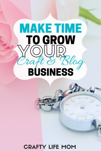 Finding time to create and grow a craft or blogging business can be really hard. Especially if you are holding down a full time job or career, household and maybe kids. This post shares two major tips when it comes to getting it all done while starting and growing a new craft business.