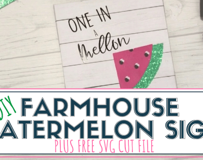 DIY Farmhouse Watermelon Sign