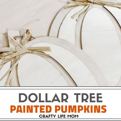 Painting Dollar Tree Pumpkins