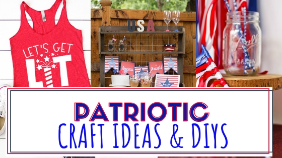 Ten Plus Patriotic Craft Ideas and DIYs for you and your home. Create some fun projects for the 4th of July this year!