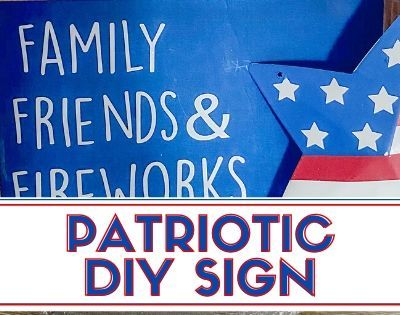 Patriotic Friends & Family Sign