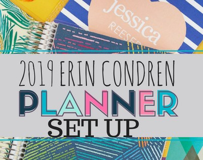 2019 Erin Condren Planner Set-Up