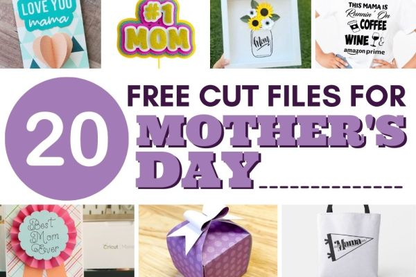Find 20+ Mother's Day SVG Files to Create Gifts for the Mom or Grandma in your life using your Cricut or Silhouette cutting machine. These SVG project ideas are great gifts and are easy and simple to re-create.