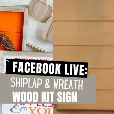 Orange Shiplap Sign with wreath