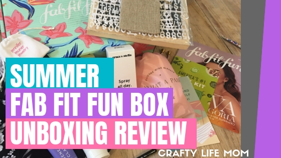The Fab Fit Fun subscription box is full of goodies valued over $250 for only $49. Get your first box for $10 OFF following this link and code!