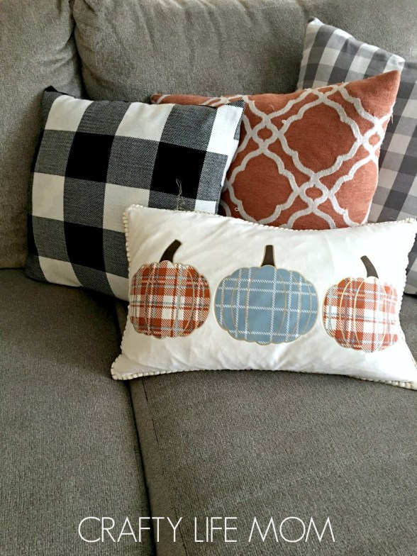 buffalo check plaid couch pillows. Update your throw pillows by covering them!. Use buffalo check plaid for a trendy updated looks to carry season to season.