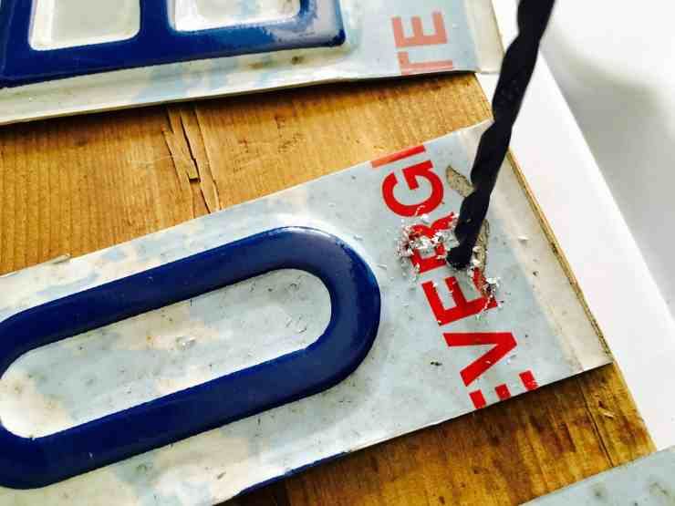 license plate drill